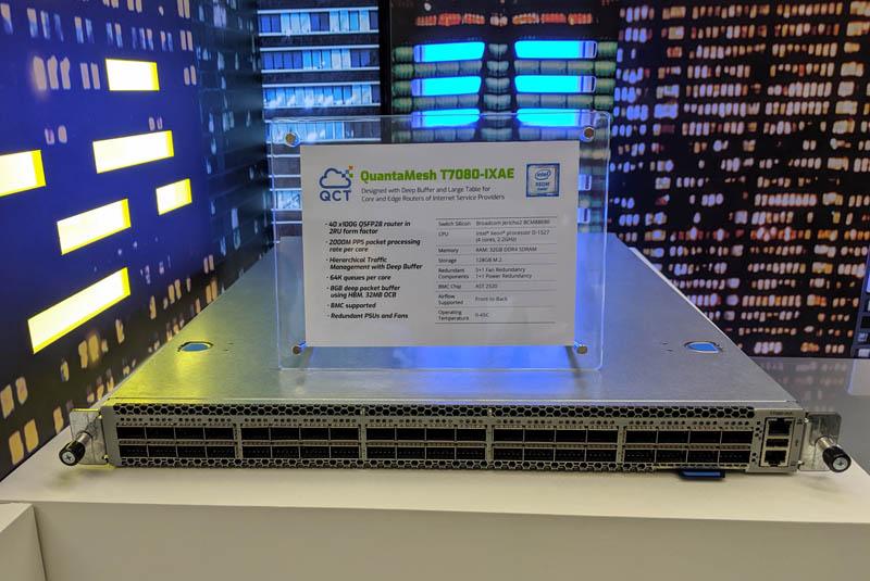 QCT QuantaMesh T7080 IXAE 40x 100GbE Router