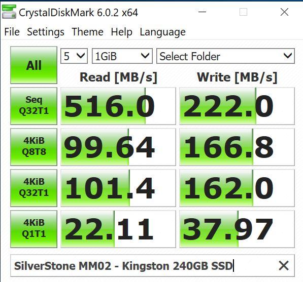 SilverStone MM02 Kinston 240GB SSD