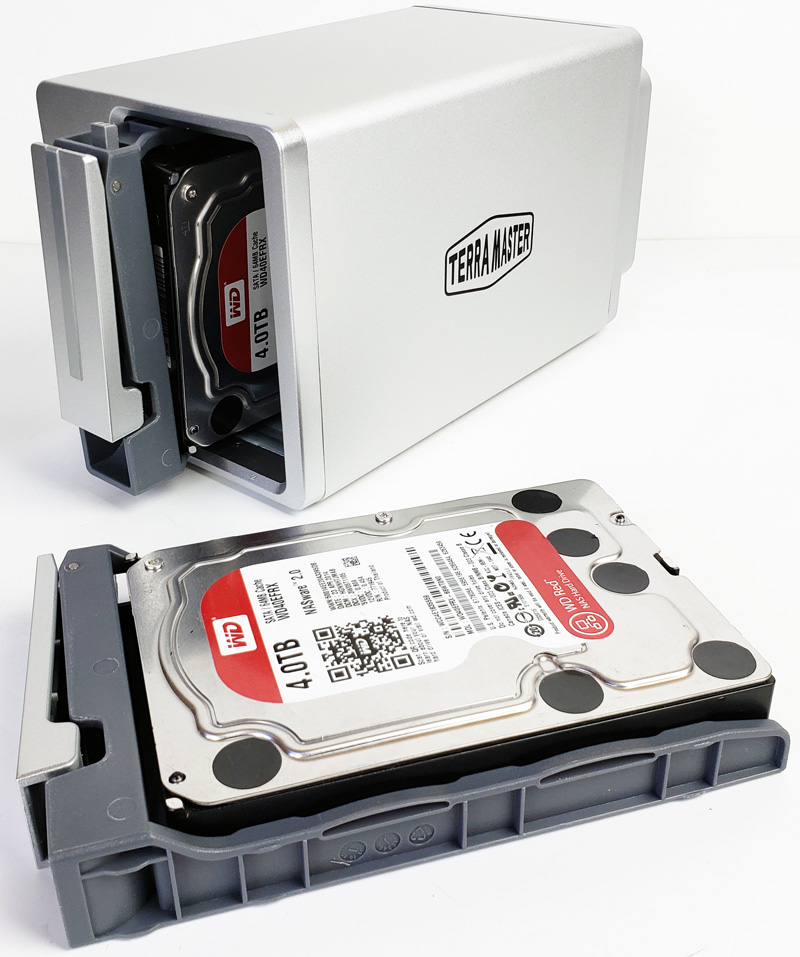 TerraMaster F2 210 Installing Hard Drives