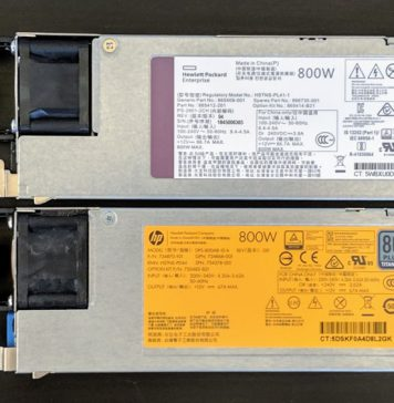 Two HPE ProLiant 800W PSU Options 2