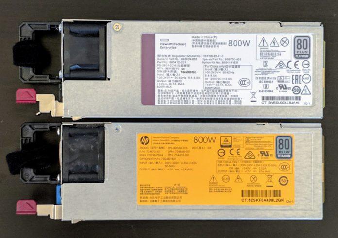 Two HPE ProLiant 800W PSU Options 2
