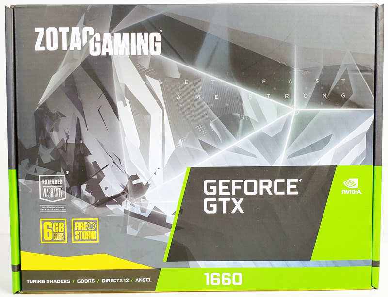 ZOTAC GTX 1660 6GB Box Front