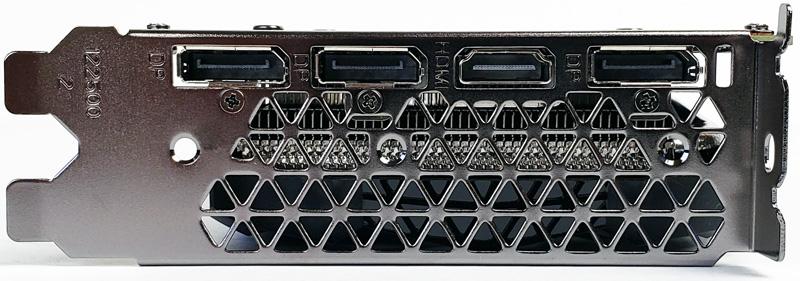 ZOTAC GTX1660 6GN Outputs