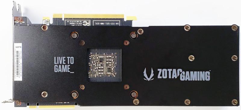ZOTAC RTX 2080 Ti Back