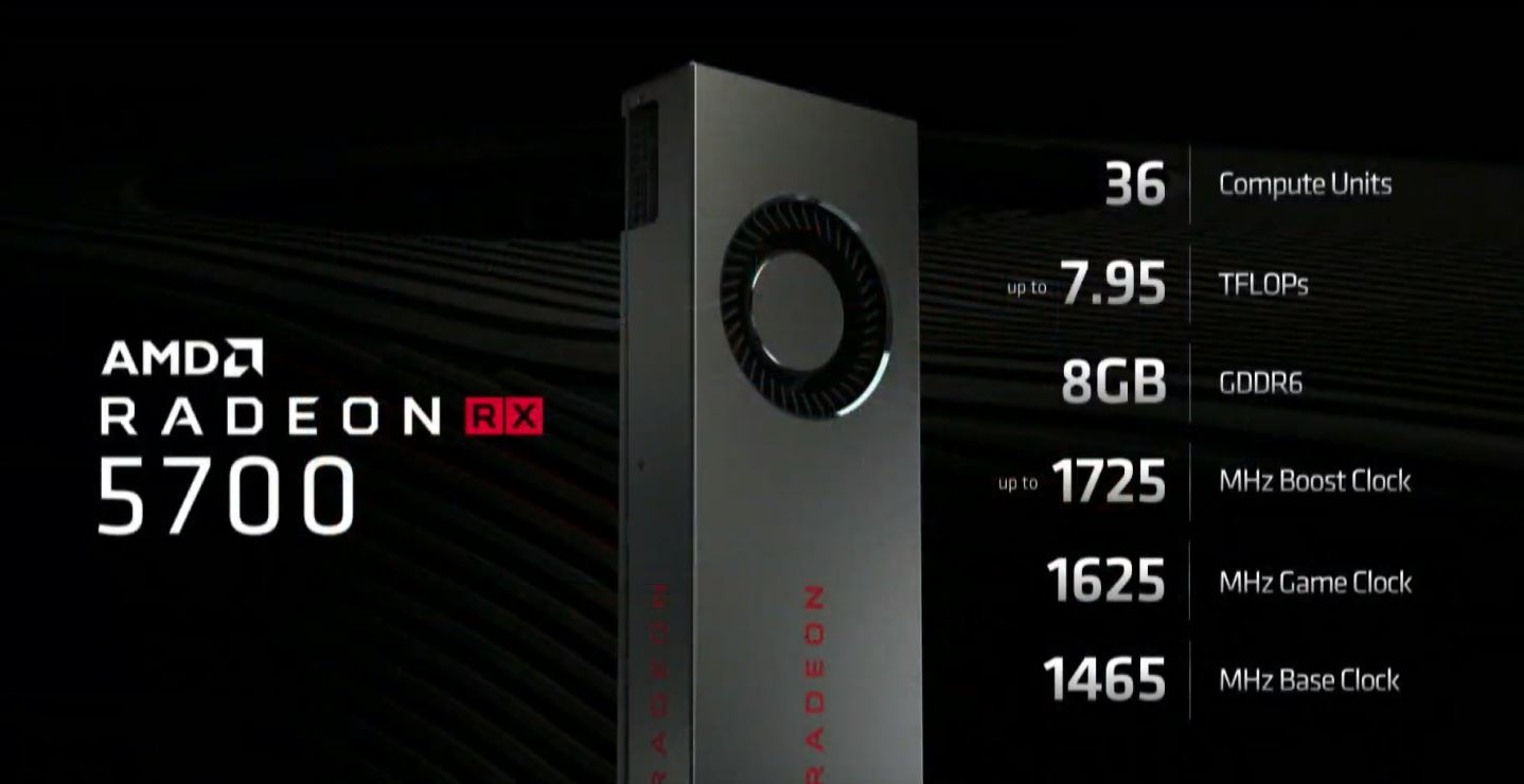 AMD Radeon RX 5700 Series Specs E3