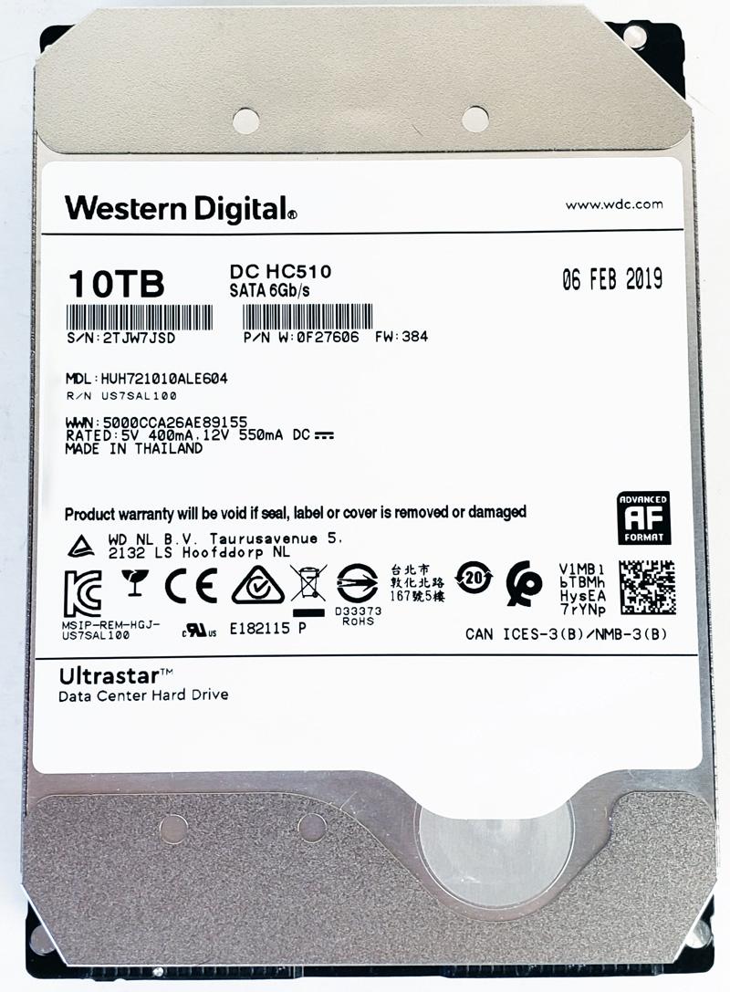 HGST Ultrastar DC HC510 10TB Front View