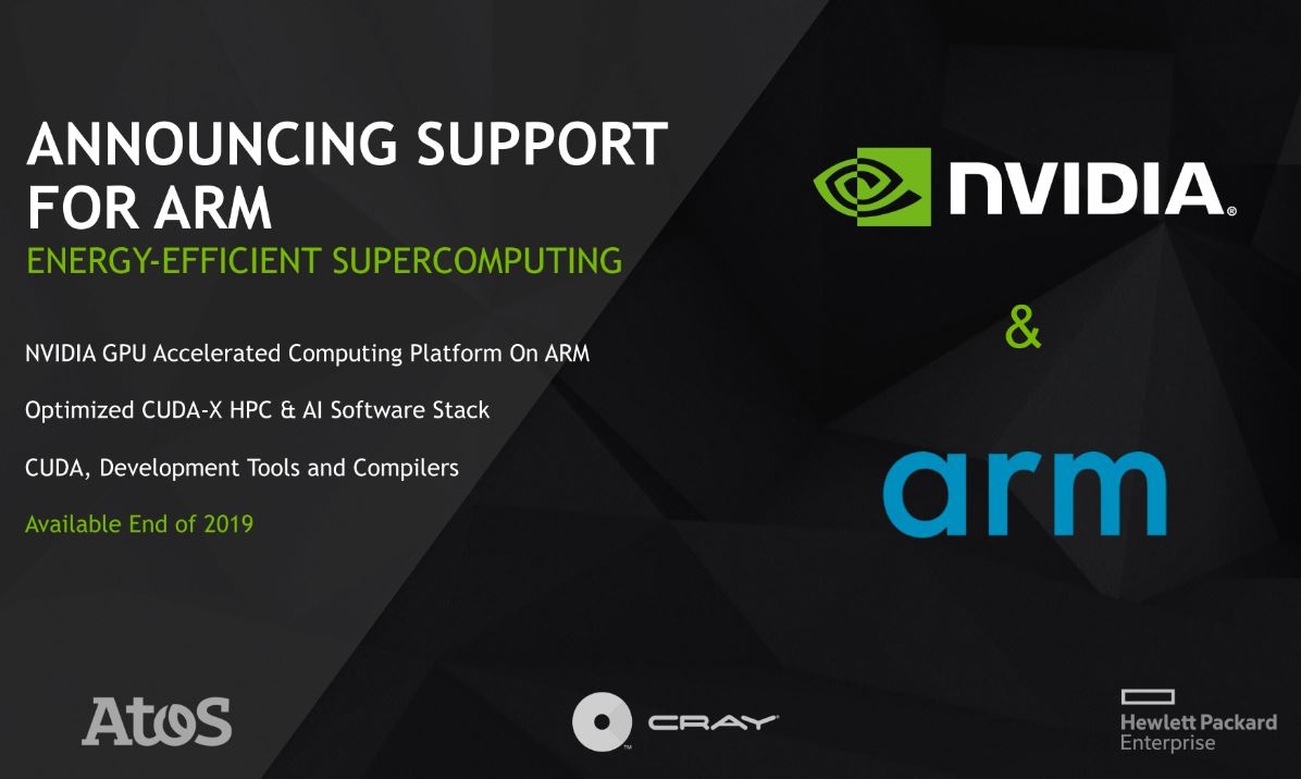 NVIDIA Arm Support At ISC 2019