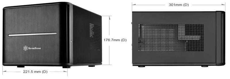 SilverStone CS280 Size