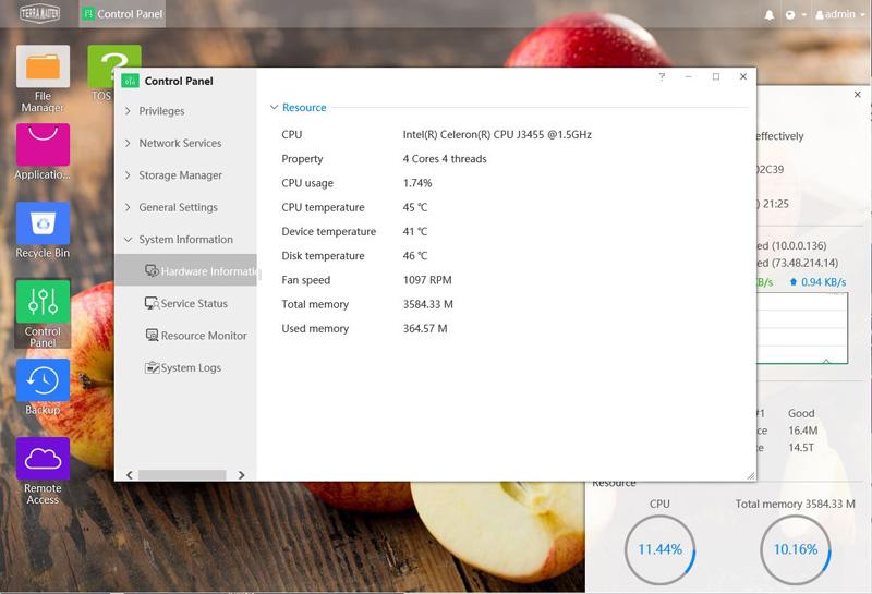 TerraMaster F2 421 Hardware Information