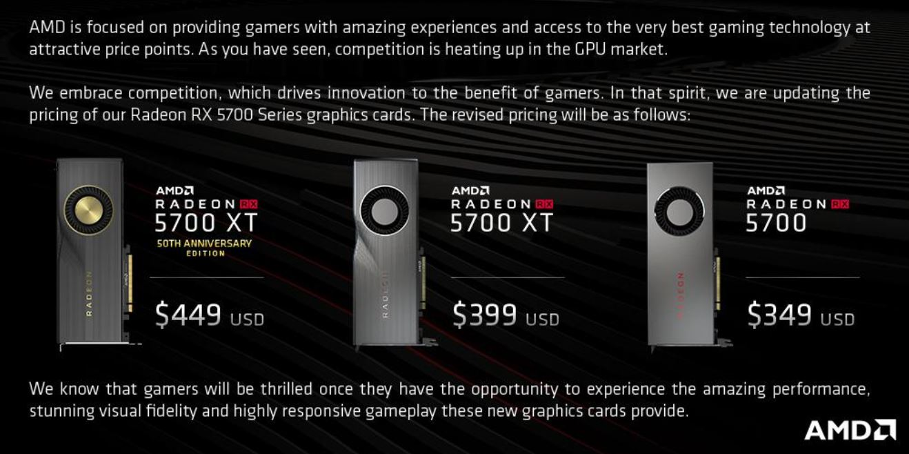 AMD Navi Pricing 2019 07 05 Update