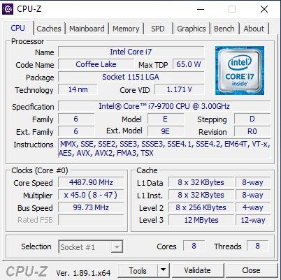 Dell OptiPlex 7470 AIO CPUz