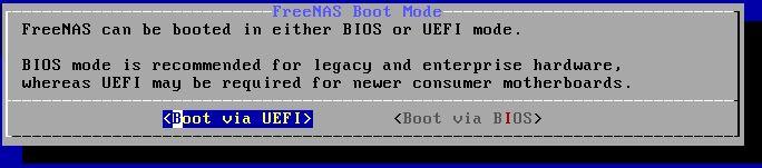 FreeNAS 11.2 U5 Installer 6 UEFI Or BIOS