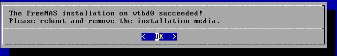 FreeNAS 11.2 U5 Installer 7 Success