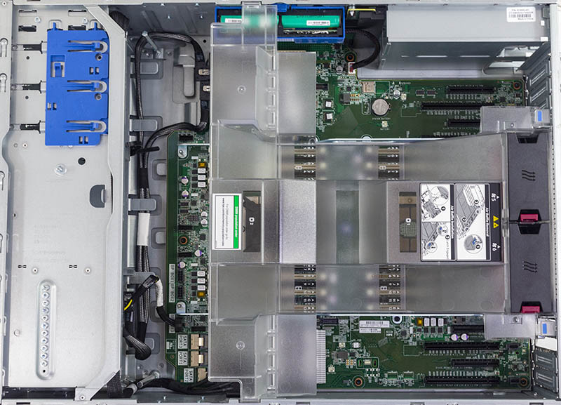 HPE ProLiant ML350 Gen10 Internal Layout With Shroud