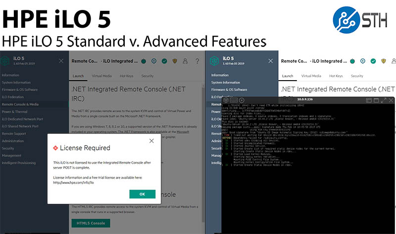 HPE iLO 5 Standard v Advanced Web Management Walk-through