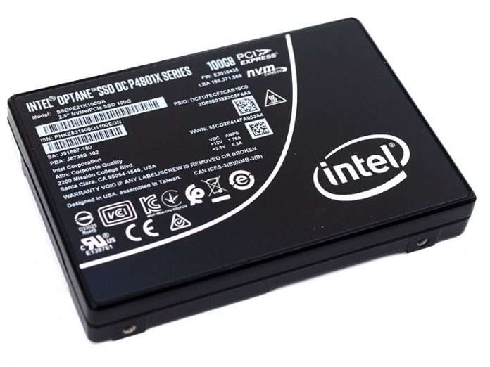 Intel Optane DC P4801X Cover