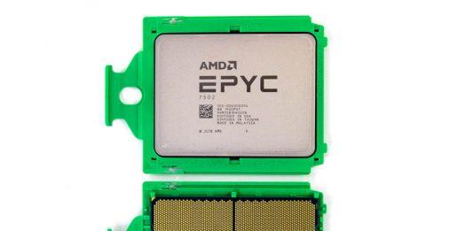 AMD EPYC 7002 Top And Bottom