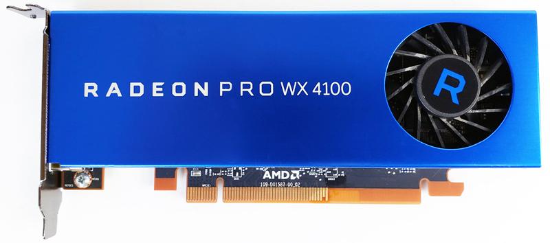 AMD Radeon PRO WX4100 Front
