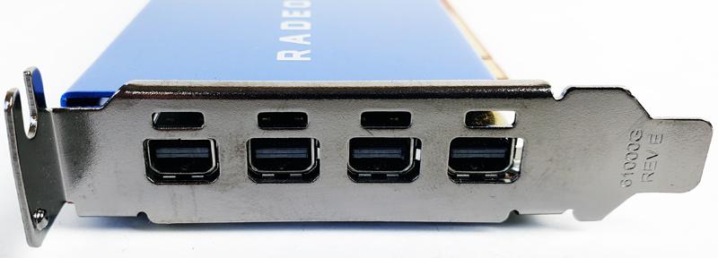 AMD Radeon PRO WX4100 IO Ports