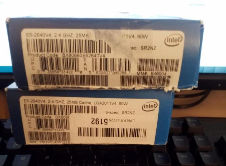 Counterfeit Intel Xeon E5 2640 V4 Boxes