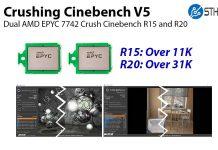 Crushing Cinebench V5 AMD EPYC 7742 Cover