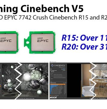 Crushing Cinebench V5 AMD EPYC 7742 Cover