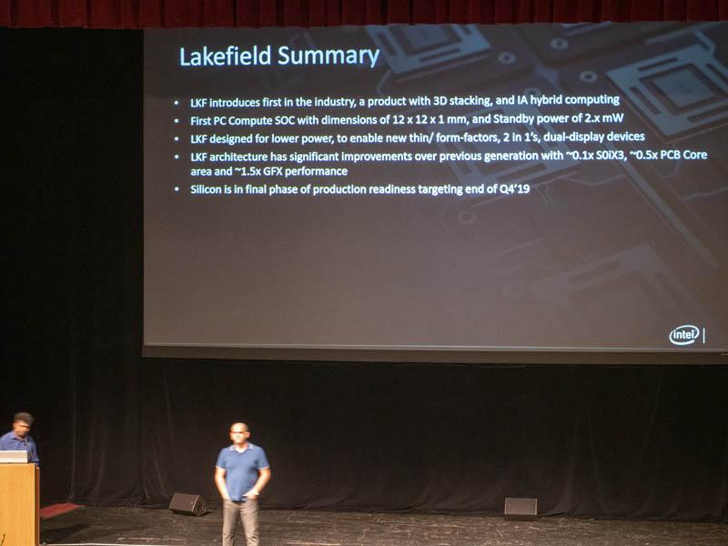 Intel Lakefield HC31 Summary