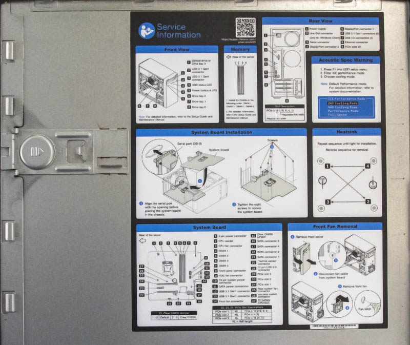 Lenovo ThinkSystem ST50 Internal Cover Instructions