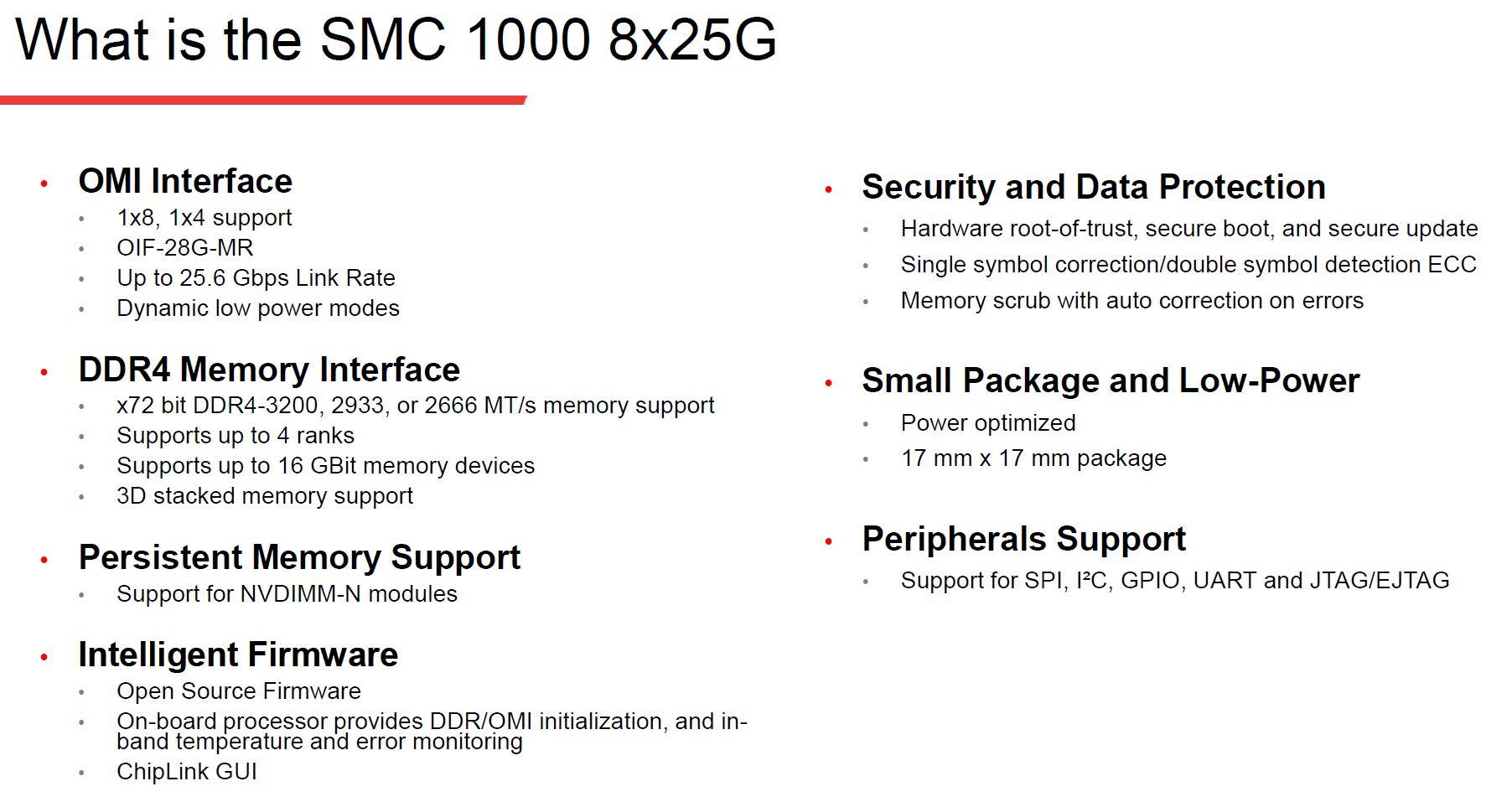 Microchip SMC 1000 8x25G Specs