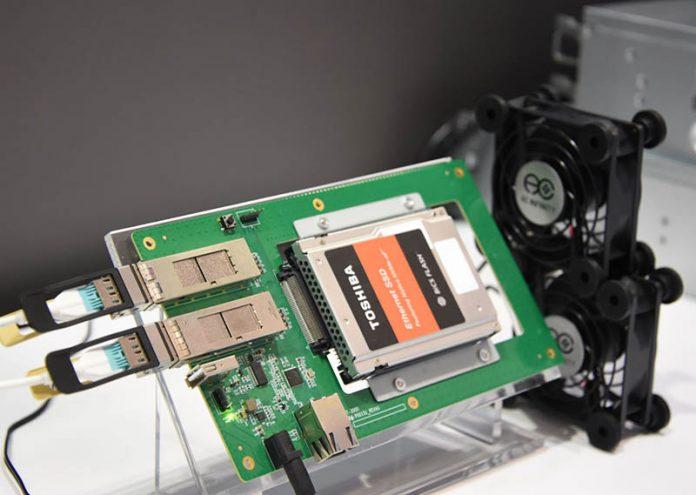 Toshiba Marvell Ethernet SSD Demo FMS 2019 2