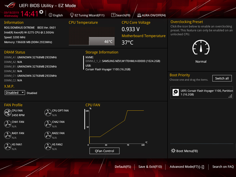 ASUS ROG Dominus Extreme BIOS EZ Mode