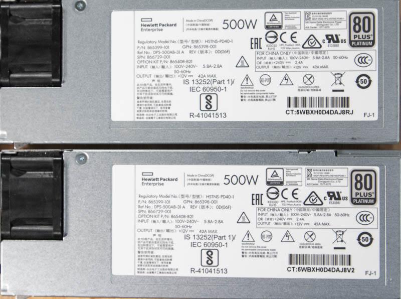 HPE ProLiant DL325 Gen10 Redundant 500W 80Plus Platinum