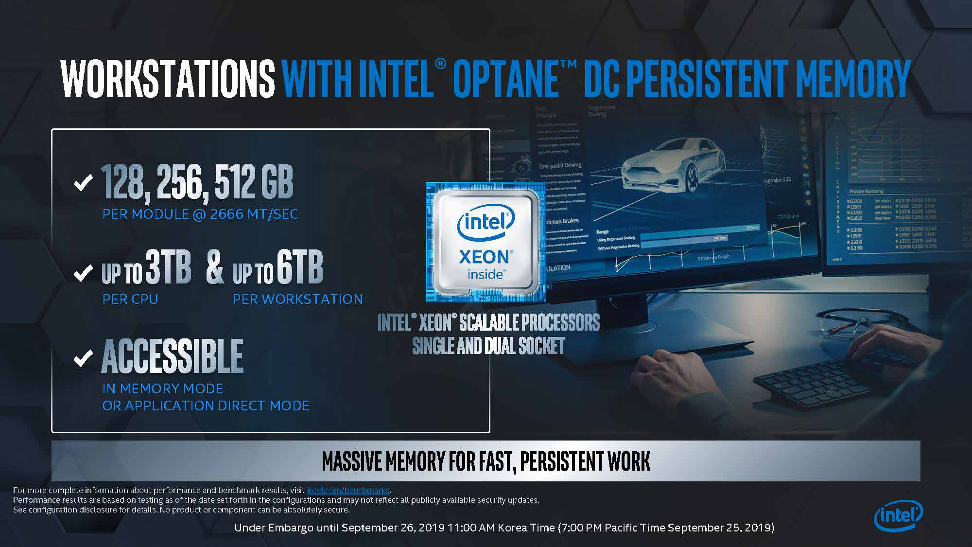 Intel Memory Storage Day 2019 Workstations