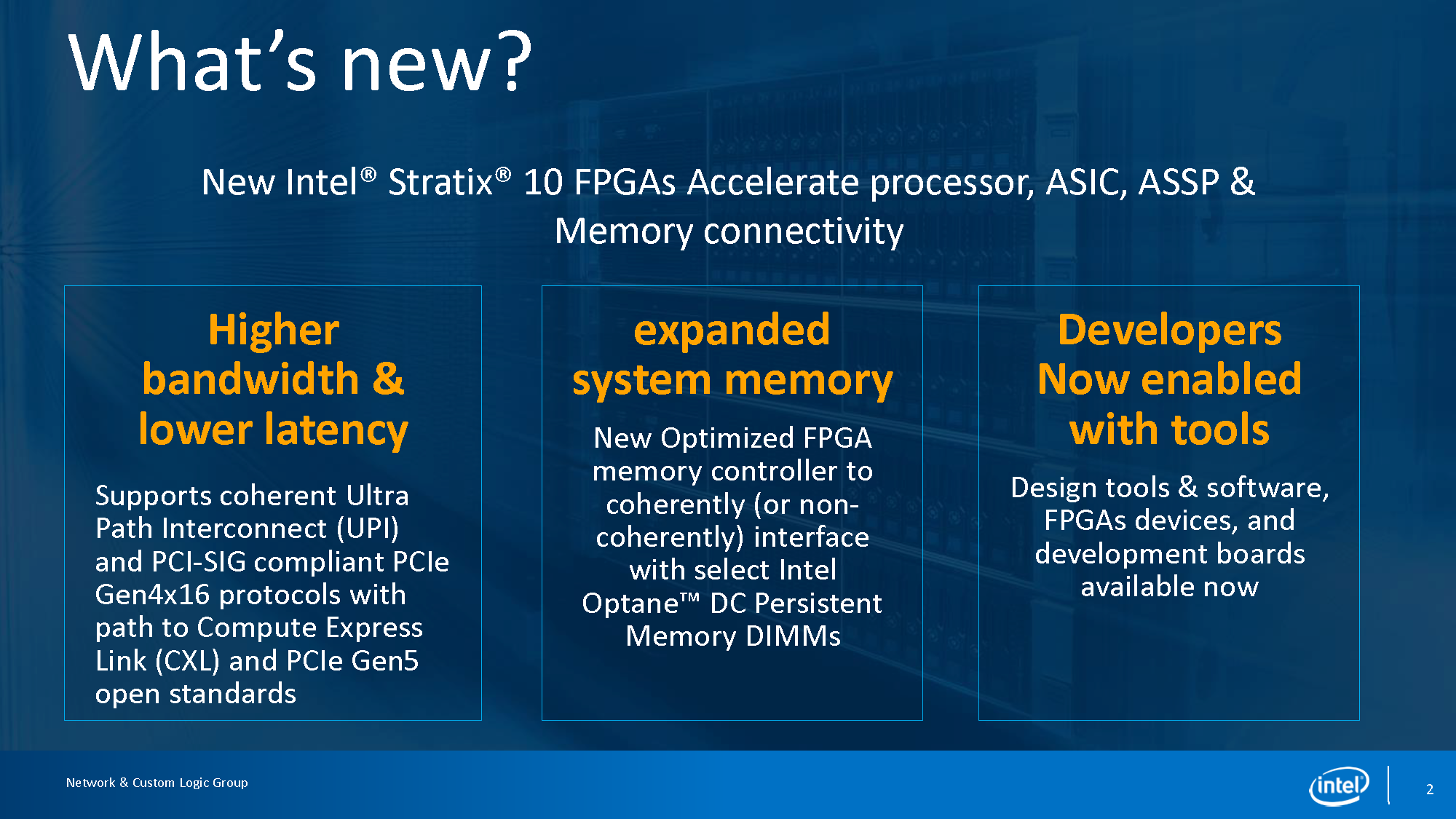 Intel Stratix 10 UPI And PCIe Gen4 News Summary