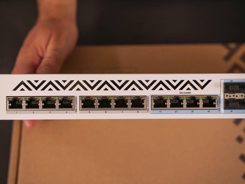 MikroTik CRS312 4C 8XG RM 10Gbase T Ports