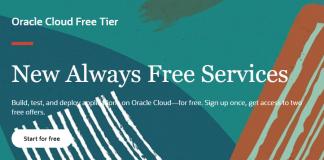 Oracle Always Free Cloud Tier