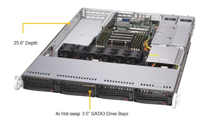 Supermicro AS 1014S WTRT Front Angled Labels