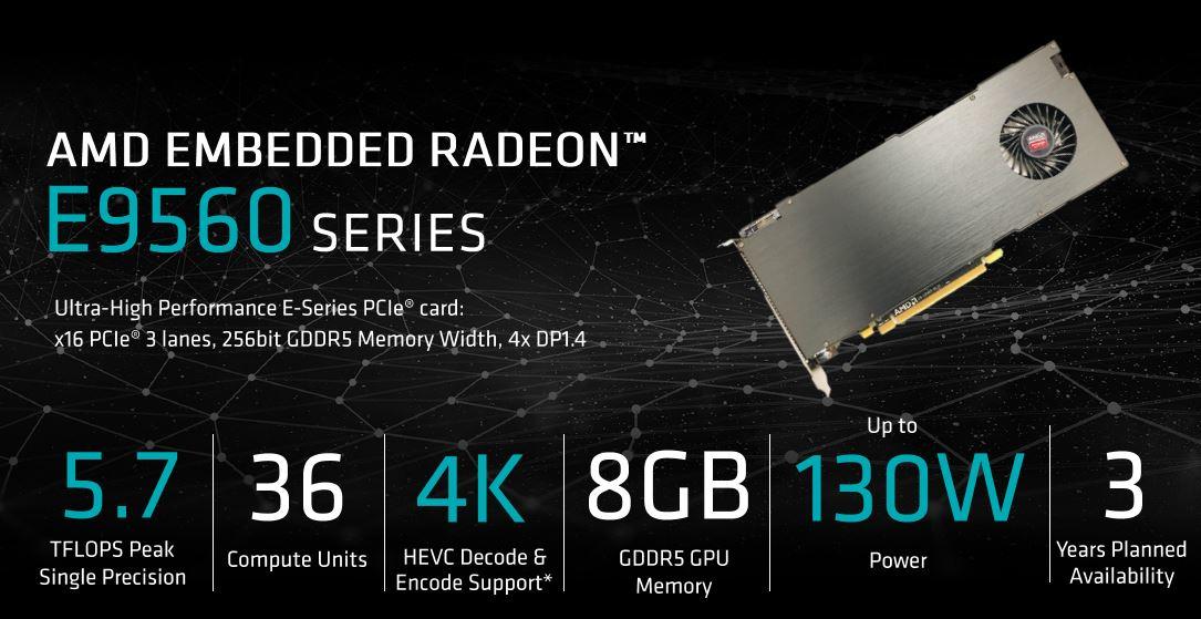 AMD Embedded Radeon E9560 GPU Specs
