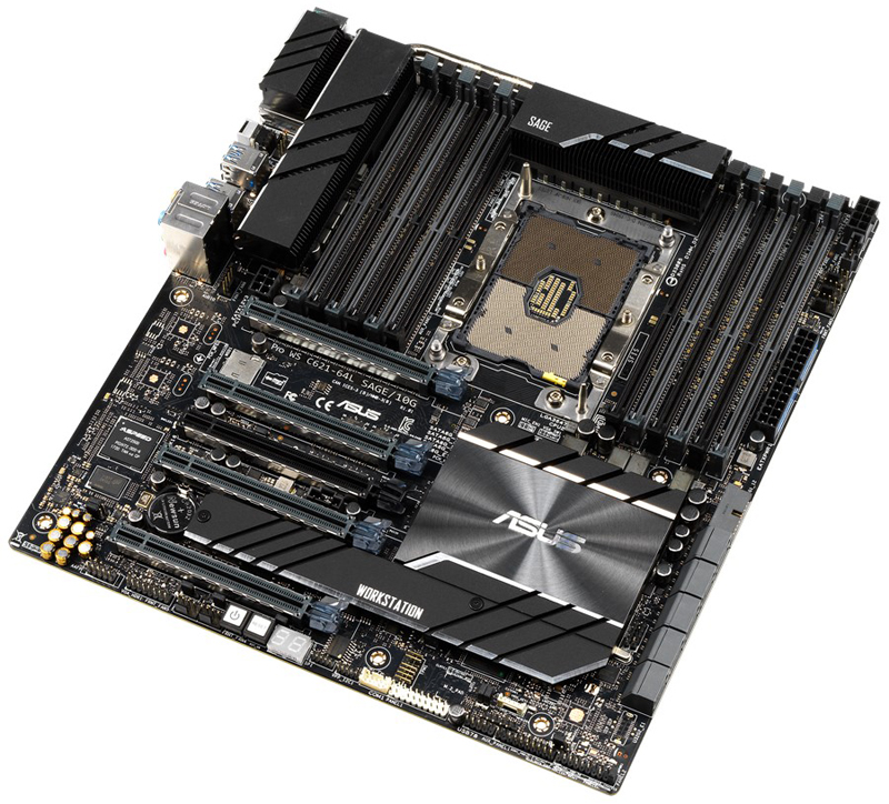 ASUS Pro WS C621 64L SAGE 10G Angle View