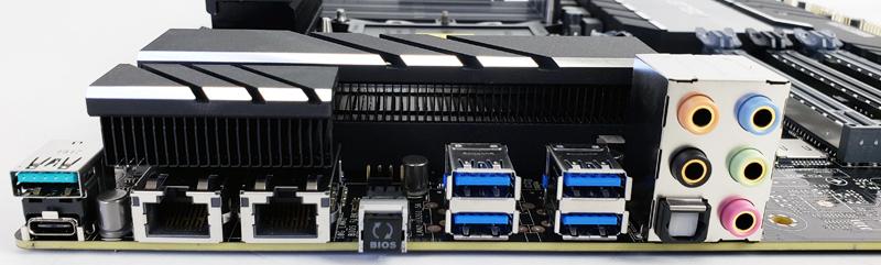 ASUS Pro WS C621 64L SAGE 10G Back IO Ports