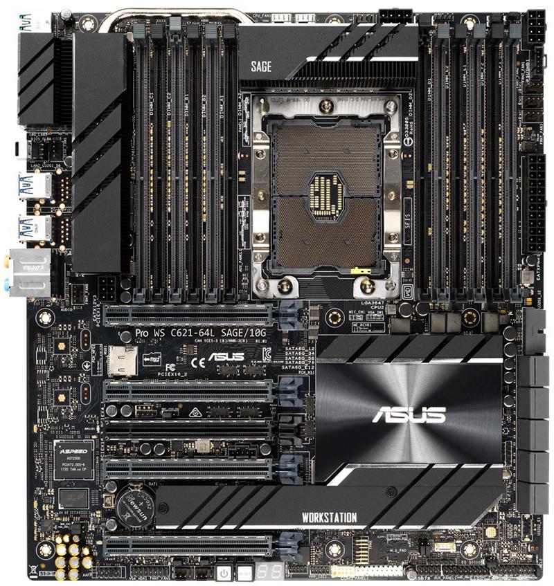 ASUS Pro WS C621 64L SAGE 10G Top View