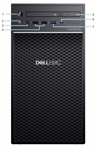 Dell EMC PowerEdge T40 Front Labeled