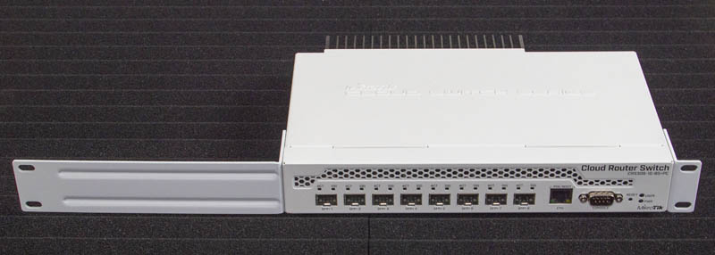 MikroTik CRS309 1G 8S Plus Front View With Rack Mount