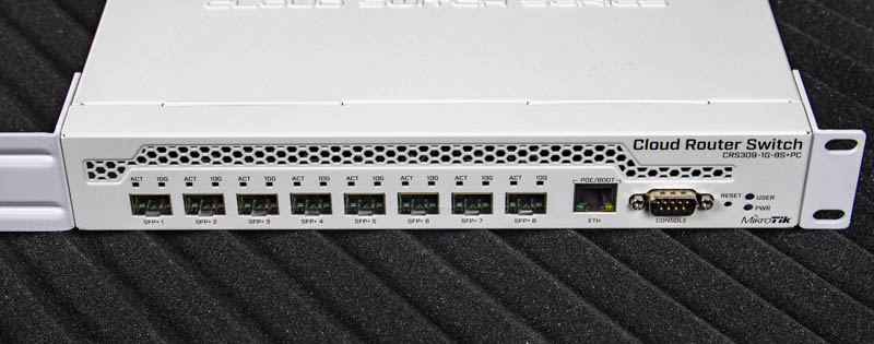 MikroTik CRS309 1G 8S Plus Front View