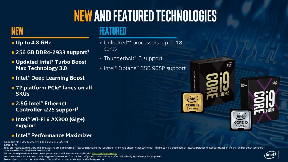 New Intel Core I9 X Series Features LGA 2066
