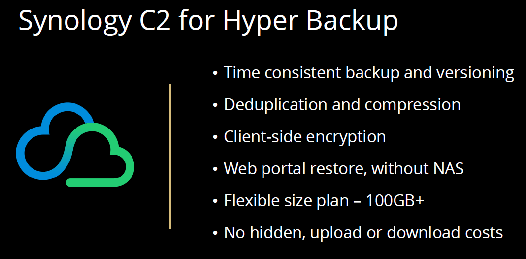 Synology Hyper Backup C2 At Synology 2020 - ServeTheHome