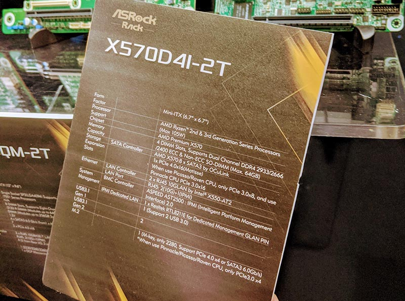 ASRock Rack X570D4I 2T Tag At SC19