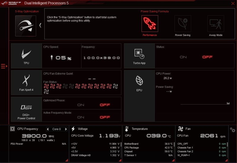 ASUS ROG Zenith II Extreme AI Suite