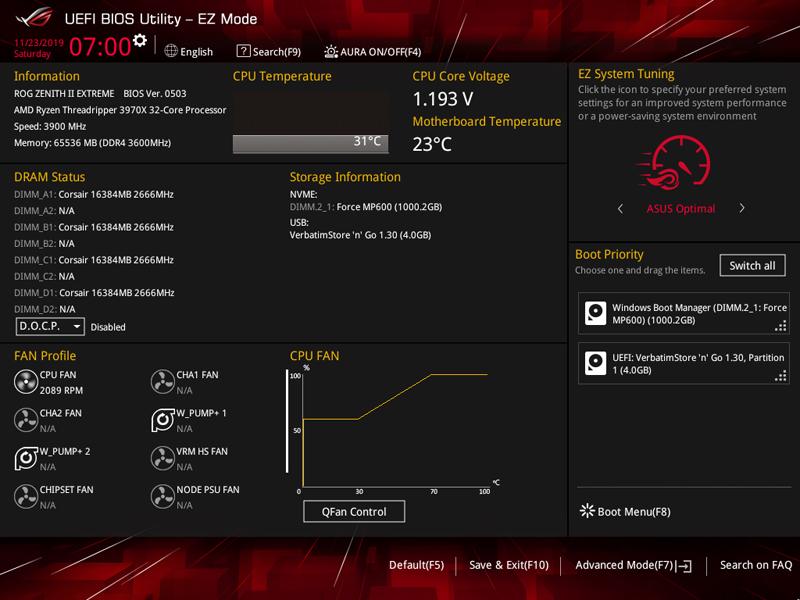 ASUS ROG Zenith II Extreme BIOS 1