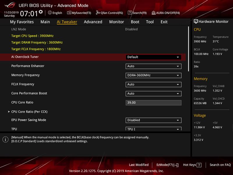 ASUS ROG Zenith II Extreme BIOS 3
